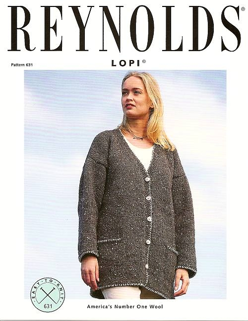 Knitting Pattern For Tweed Cardigan For Women In Alafoss Lopi