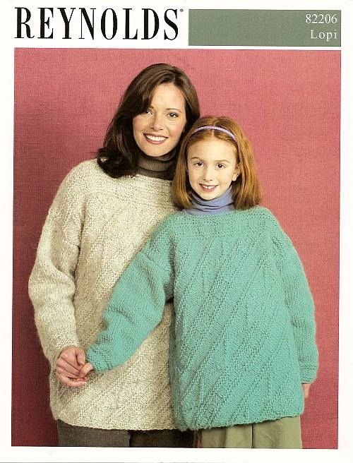 Knitting Pattern For Diagonal Front Guernsey For Teens Adults